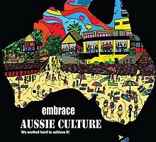 Australian cultural art 2 by Karen Elzinga