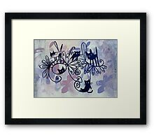 happy kittens Framed Print