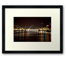 Samuel Beckett Bridge, Landmark - Dublin, Ireland Framed Print