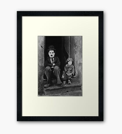 Charlie Chaplin portrait Framed Print