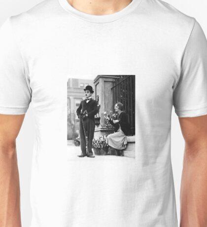 Charlie Chaplin Flower Girl Photo Movie Unisex T-Shirt