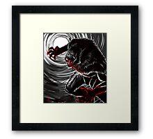 Blood Moon (B&W Version) Framed Print