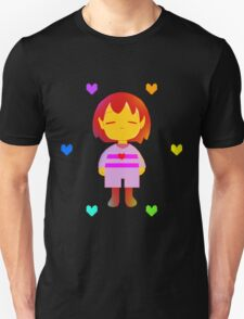 Frisk Hearts (Red Version) Unisex T-Shirt