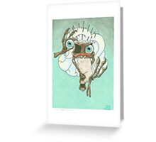 Skeletal Needles: Paleontology Greeting Card
