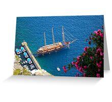 Santorini Island Greece Greeting Card