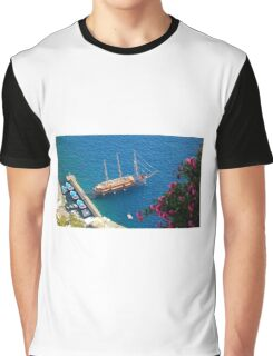 Santorini Island Greece Graphic T-Shirt