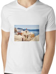 Santorini Island Greece Mens V-Neck T-Shirt