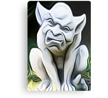 'Crouching Gargoyle' - Smooth Texture Abstract Gargoyle Canvas Print