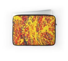 Abstract Jackson Pollock Painting Original Art Titled: Unsteady Side Laptop Sleeve