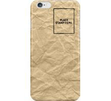 Place Stamp Here Letter iPhone Case/Skin