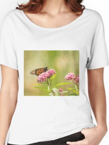 Monarch On Swamp Milkweed 2014-1 Women's Relaxed Fit T-Shirt