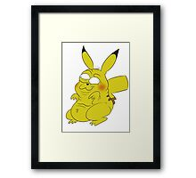 Retarded Pikachu - Pokémon Framed Print