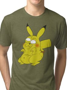 Retarded Pikachu - Pokémon Tri-blend T-Shirt