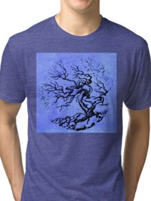 Old and Ancient Tree - Blue  Tri-blend T-Shirt