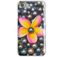 Tahitian Pearls and Pink Plumeria iPhone Case/Skin