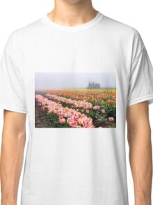 Pink tulips and tractor Classic T-Shirt
