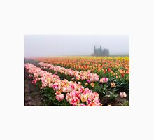 Pink tulips and tractor Unisex T-Shirt