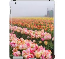 Pink tulips and tractor iPad Case/Skin