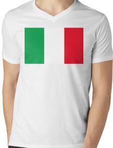 Italian Flag Mens V-Neck T-Shirt