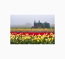 Yellow tulips and tractors Unisex T-Shirt
