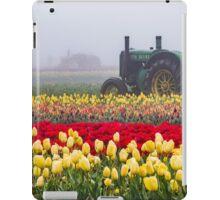 Yellow tulips and tractors iPad Case/Skin