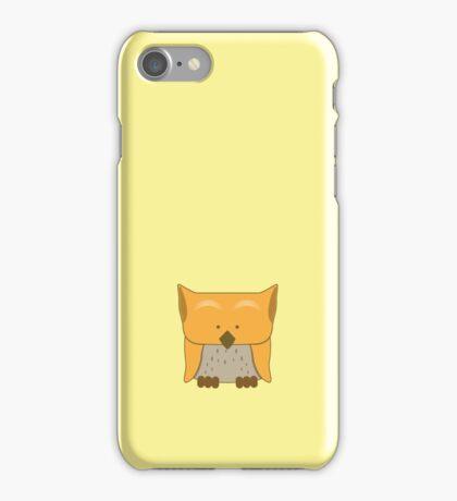 So cute Owl in orange iPhone Case/Skin