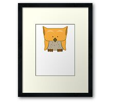 So cute Owl in orange Framed Print