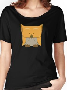 So cute Owl in orange Women's Relaxed Fit T-Shirt