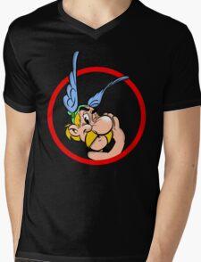 Cool Asterix Mens V-Neck T-Shirt