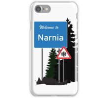 Narnia traffic iPhone Case/Skin