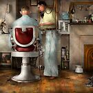 Barber - Our family barber 1935 by Mike  Savad