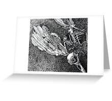 lovely dead bird Greeting Card