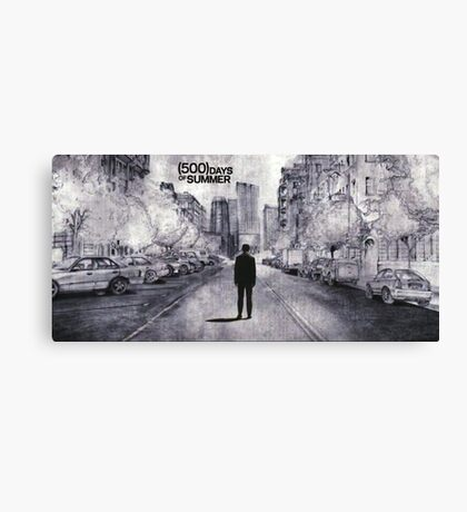 (500) Days of Summer- Lonely Tom Sketch Canvas Print