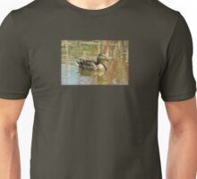 Female Mallard Duck in Pond Unisex T-Shirt