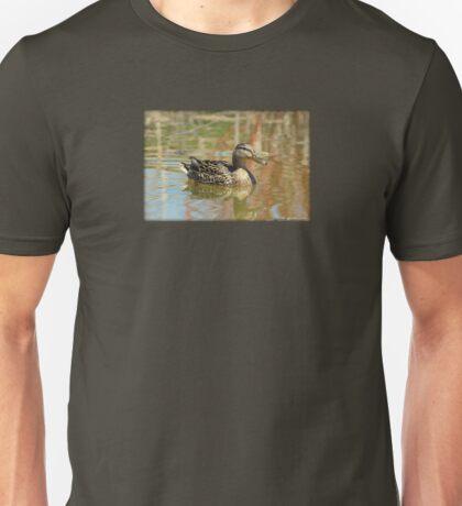 Female Mallard Duck in Pond Unisex T-Shirt