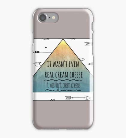 It was light cream cheese // Bad blood iPhone Case/Skin