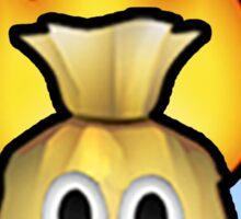 Flaming Bag of Poop Emoji Sticker