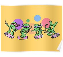 Hovering Turtles! Poster