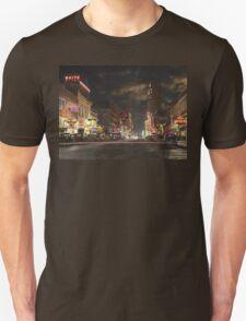 City - Dallas TX - Elm street at night 1941 T-Shirt