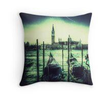 Vintage style Venice Throw Pillow