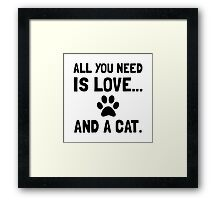 Love And A Cat Framed Print