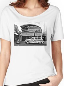 Camden Town London Taxi (Black and White) Women's Relaxed Fit T-Shirt