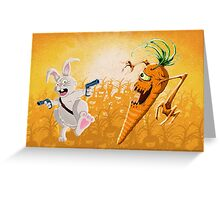 Bad Wabbit vs. Killer Carrots Greeting Card
