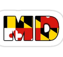 MD (Maryland flag letters) Sticker