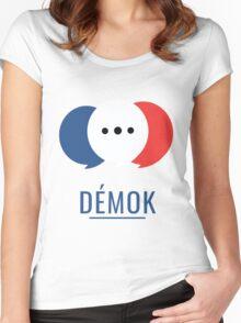 Démok! Votre application de consultation citoyenne Women's Fitted Scoop T-Shirt