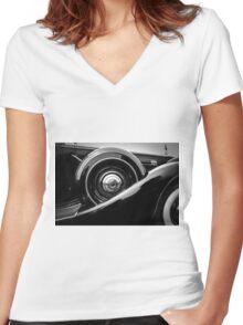 Packard Twelve Women's Fitted V-Neck T-Shirt