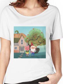 Mr. Pepper Pickle Pumpkin Plum Women's Relaxed Fit T-Shirt