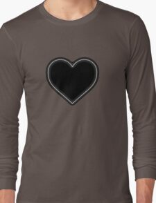 White Neon Heart - Love Valentines  Long Sleeve T-Shirt
