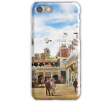 City - NY - The Great Steeplechase 1903 iPhone Case/Skin
