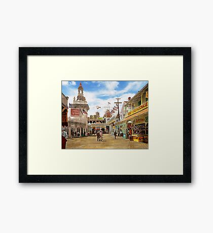 City - NY - The Great Steeplechase 1903 Framed Print